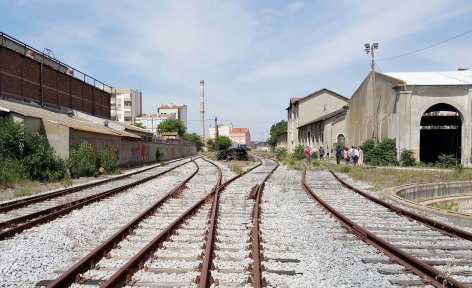 Existing conditions: the former railway and maintenance buildings